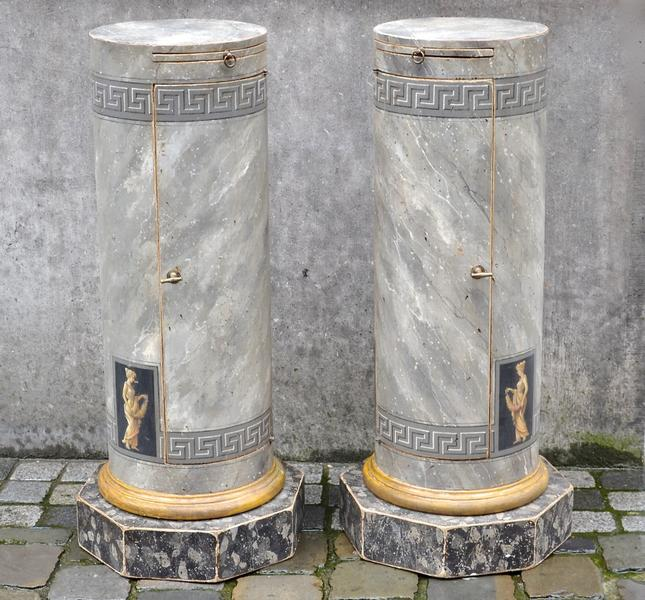 Pair of Storage Pedestals in Painted Wood