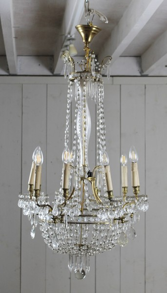 Pendant and bronze chandelier