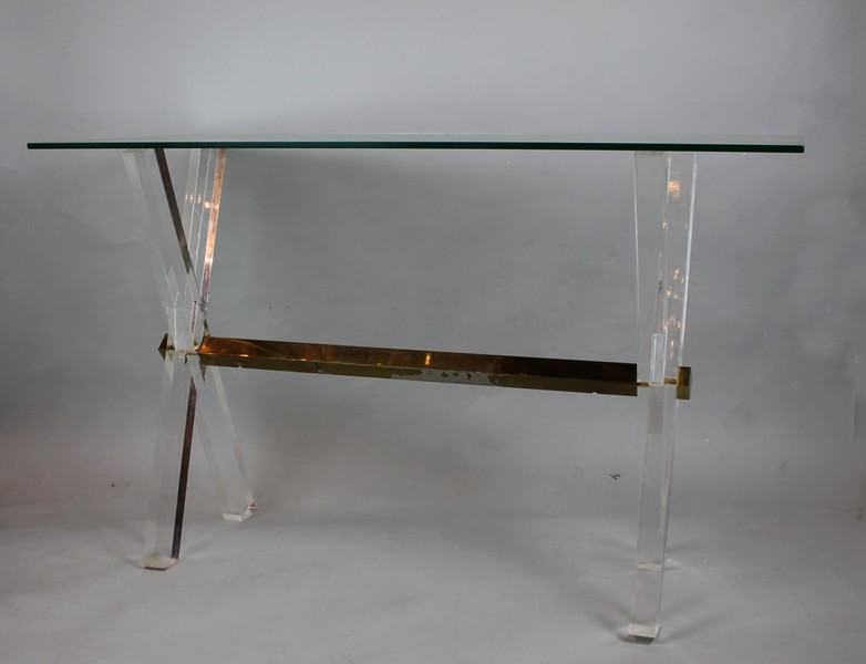 Plexiglass and glass console