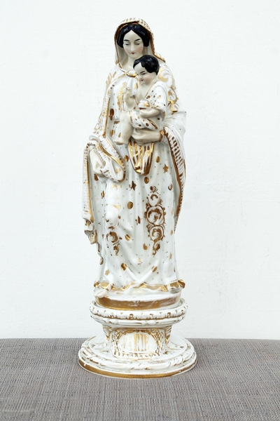 Porcelain virgin sculpture, end of 19th c.
