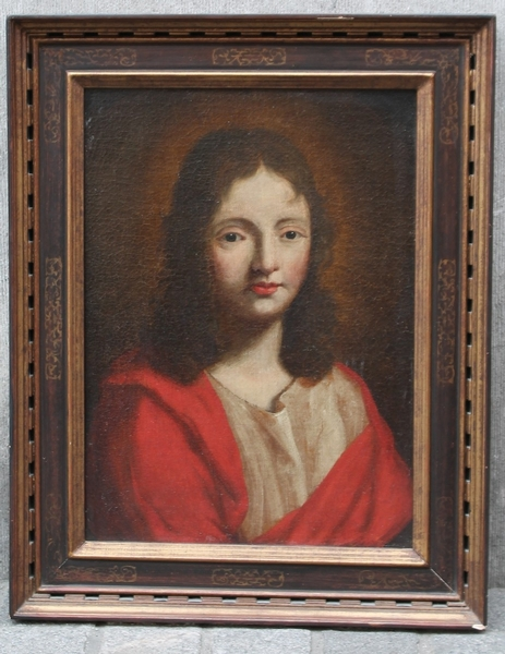 Portrait Of Saint John The Baptist, Oil On Canvas, 18th C.
