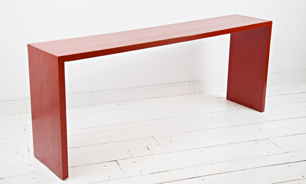 Red lacquered wood console
