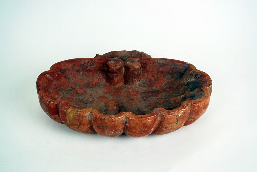 Red marble 19th C. italian stoup