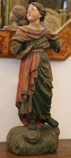 Religious sculpture in carved wood 18th.C