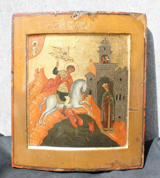 Russian orthodox icon, St George