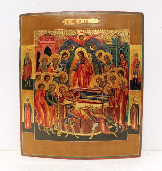 Russian orthodox icon, The Dormition of the Mother of God, 19th C.