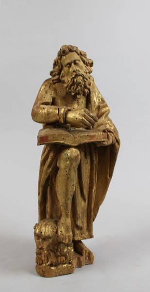 Saint Mark, 18th C. carved and polychromed wood
