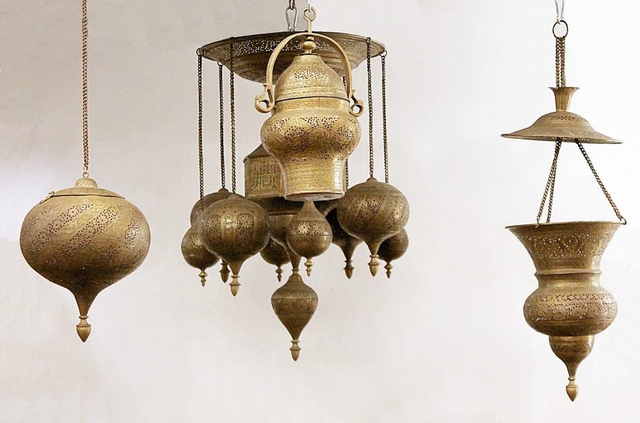 Set of 4 brass lanterns