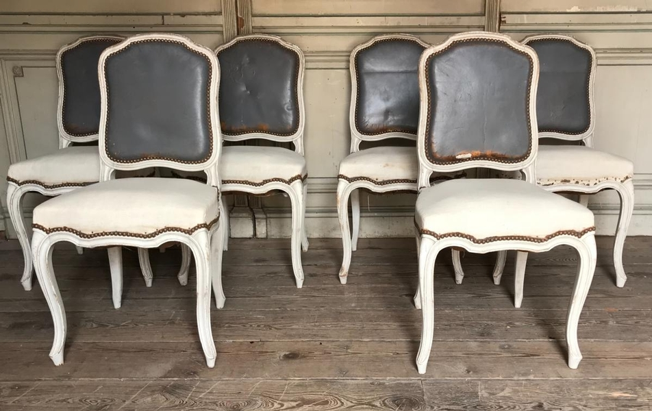 Set of 6 Louis XVI style chairs