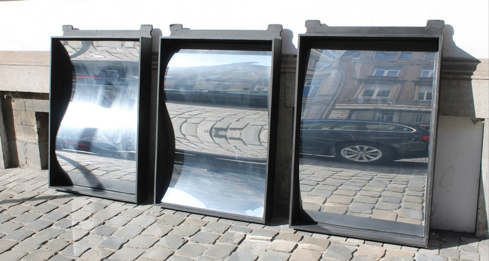 Set of three crazy mirrors