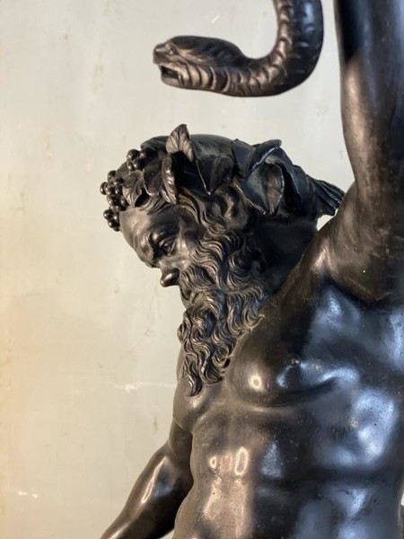 Silenus, bronze after the antique, 19th C.