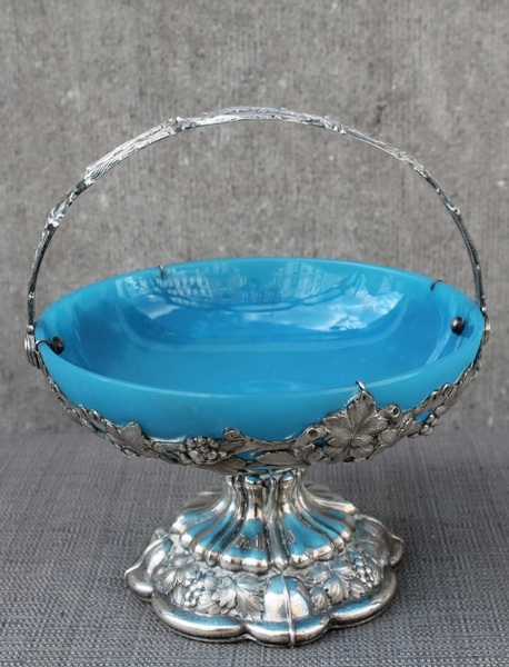 Silver and opaline cup
