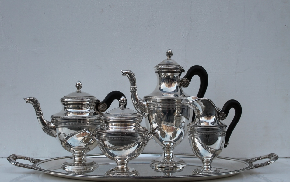 Silver tea service - 5 items