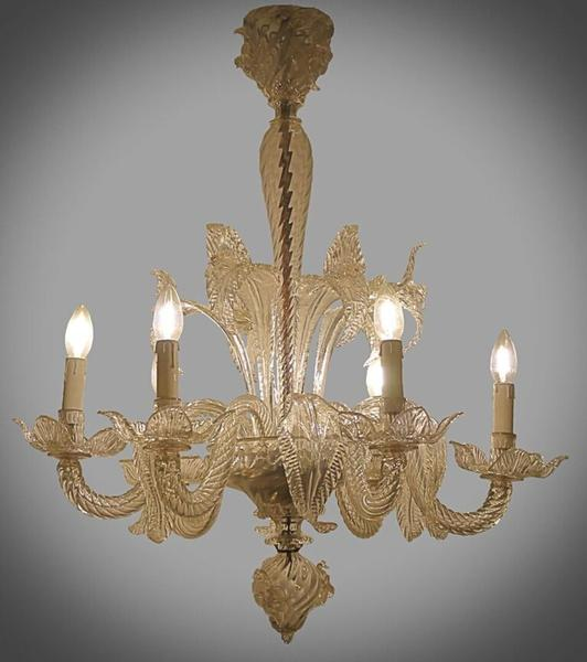 Small 1940's Murano Glass Chandelier