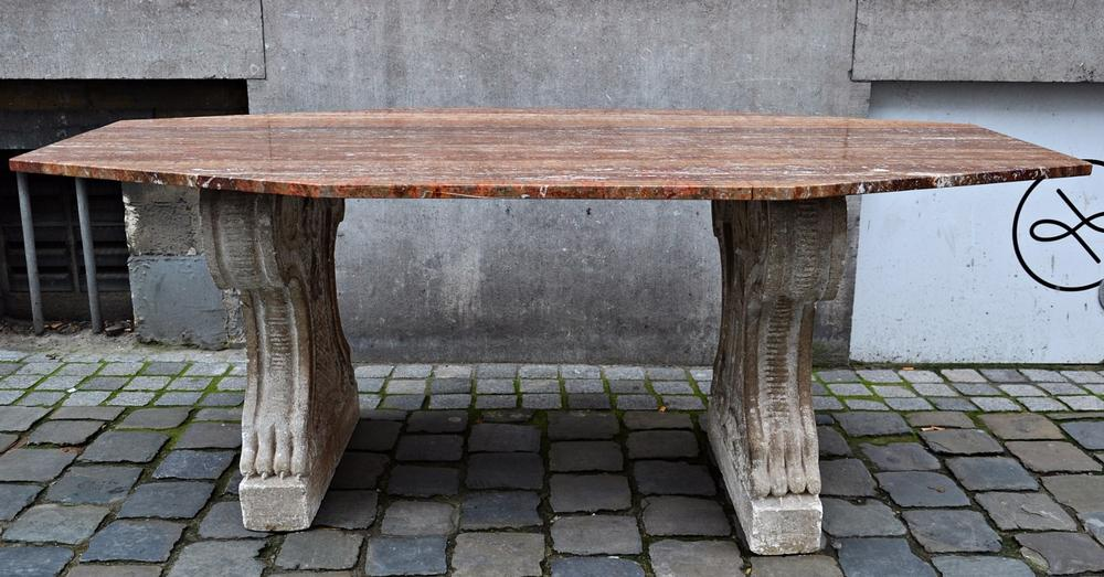 Stone and marble table