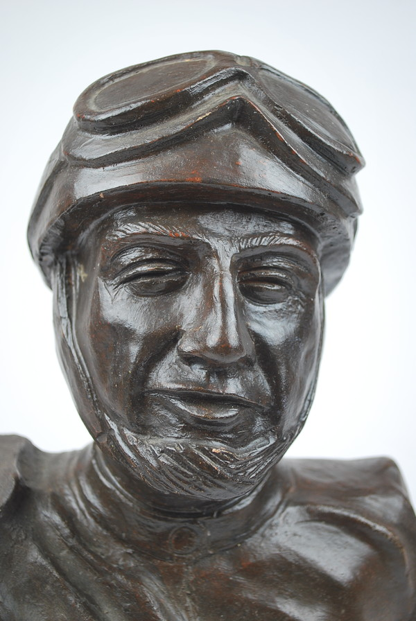 Terracotta bust, signed Navoletti Toscare