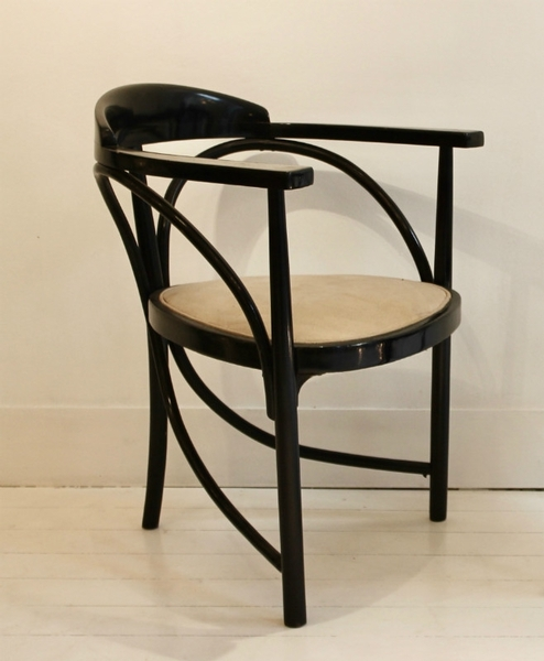 Thonet Tripod Armchair Model 225, Circa 1906