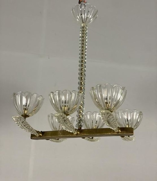 Venetian chandelier by Seguso with 6 arms of light