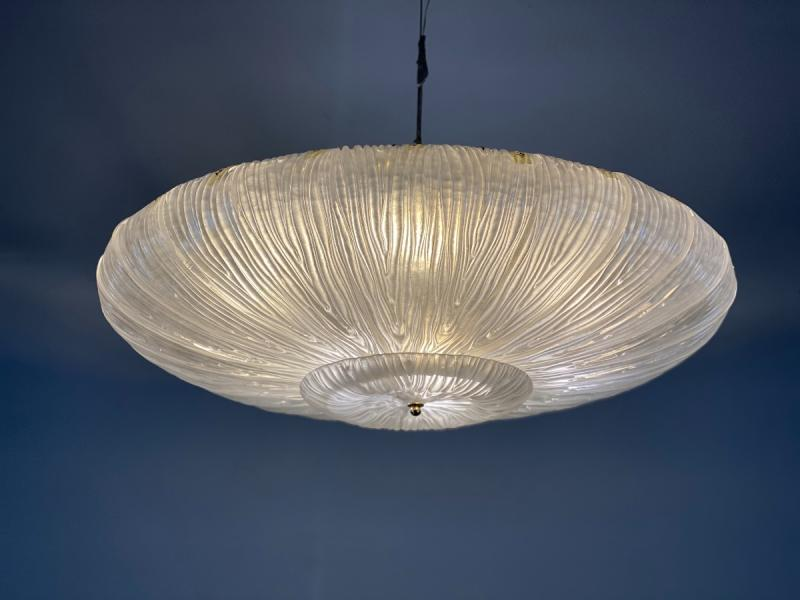 Venetian Murano chandelier in molded and pressed Murano glass