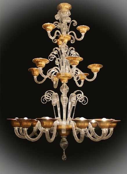 Very tall Murano chandelier