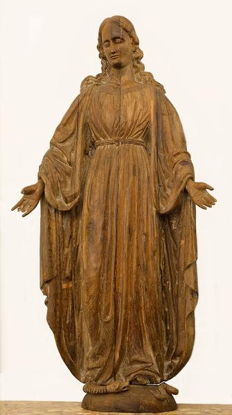 Virgin sculpture in oak, 18th c.