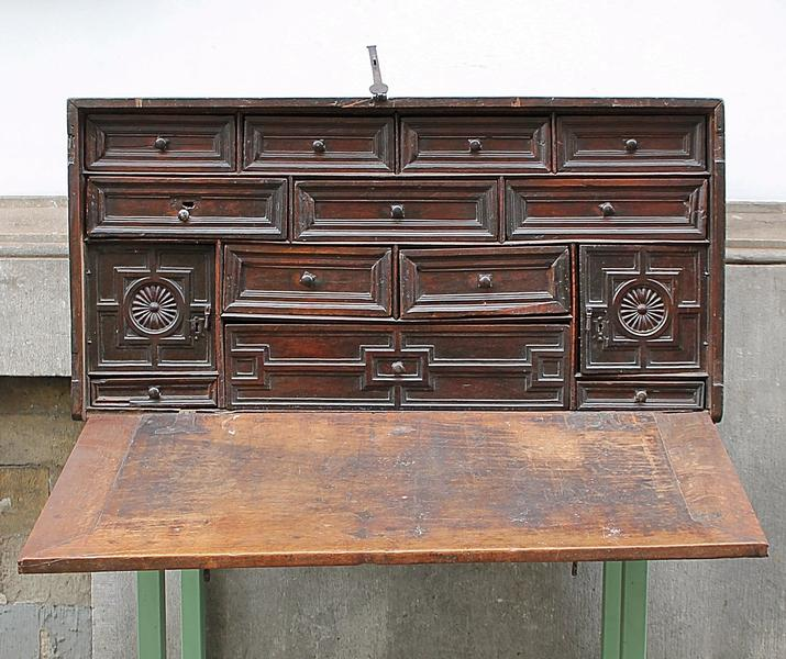 Walnut chest, 18th c.